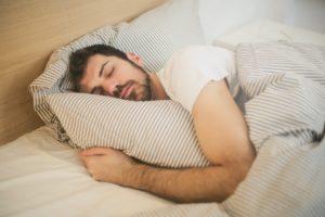 Sleep Awareness week, sleeping man.